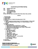 February 13, 2019 CUUATS Policy Committee Meeting Agenda
