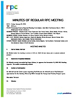 1) RPC Meeting Minutes 012519