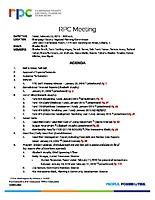 RPC Meeting Agenda – Feb. 22, 2019