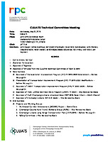May 1, 2019 CUUATS Technical Committee Meeting Agenda