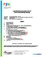 May 16, 2019 Chief Elected Officials Board Meeting Agenda and Packet