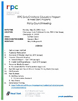May 20, 2019 Policy Council packet