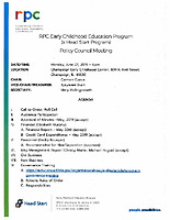 June 24 2019 Policy Council Packet
