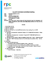 September 4, 2019 CUUATS Technical Committee Meeting Agenda