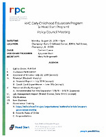 August 26, 2019 Policy Council Packet