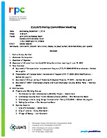 September 11, 2019 CUUATS Policy Committee Meeting Agenda