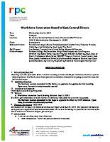 July 17, 2019 Workforce Innovation Board Meeting Minutes