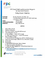 September 23 2019 Policy Council Packet