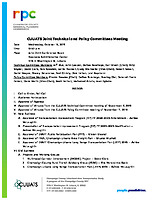 October 16, 2019 Joint Technical and Policy Committee Meeting Agenda