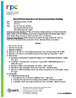 October 16, 2019 Joint Technical and Policy Committee Meeting Packet