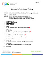 2019.11.20 CAB Meeting Agenda and Meeting Materials