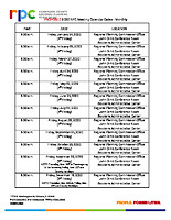 09) PROPOSED 2020 RPC Meeting Calendar Dates