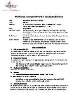 September 18, 2019 Workforce Innovation Board Minutes
