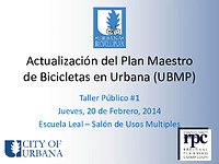 urbana bike plan presentation latino public workshop