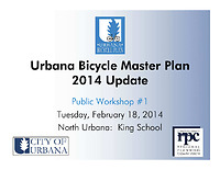 urbana bike plan presentation north urbana public workshop