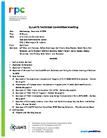 December 4, 2019 CUUATS Technical Committee Meeting Agenda