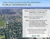 Meeting flyer Savoy Comp Plan November 2018