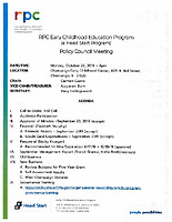 October 28, 2019 Policy Council Packet