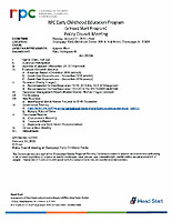 January 27, 2020 Policy Council Packet