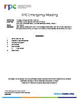 RPC Emergency Meeting Agenda 022020