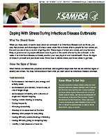 SAMHSA coping with stress during infectious disease outbreak