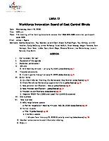 March 18, 2020 Workforce Innovation Board Agenda