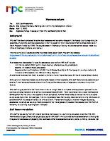 13) Change Scope of FY20 RPC Membership Work Plan