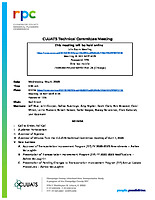 May 6, 2020 CUUATS Technical Committee Meeting Agenda