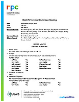 May 6, 2020 Approved Technical Committee Minutes