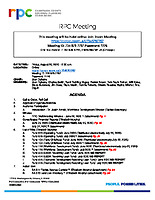 RPC Meeting Agenda 082820
