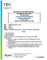 September 9, 2020 CUUATS Policy Committee Meeting Agenda