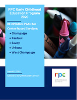 RPC Early Childhood Education Program 2020 REOPENING PLAN for Center-Based Services
