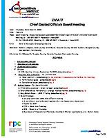 November 19, 2020 Chief Elected Officials Board Meeting Agenda
