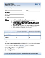 Quote Form – ESF Cleaning Services