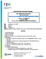 June 16, 2021 CUUATS Policy Committee Meeting Agenda