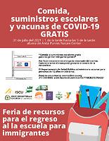 2021 Immigrant Back-to-School Resource Fair (Spanish)