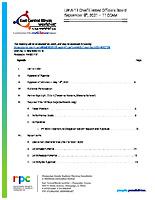 September 9, 2021 Meeting Agenda