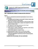 11 — Policy framework