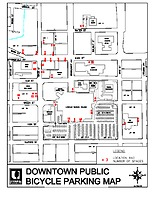 17 — Downtown bicycle parking map