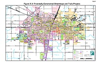 Map X-03: Financially constrained Greenways and Trails projects