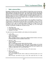 A6 — Public involvement efforts