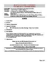 October 14, 2016 CEO Selection Committee Agenda
