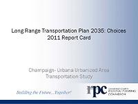 2011 LRTP Report Card Presentation