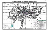Map IV-02: Selected crash intersection locations (1999-2002)