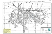 Map IV-06: Intersections with more than 20,000 average daily traffic