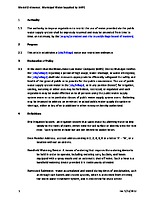 Model Water Use Restriction Ordinance – public water supply by IAWC